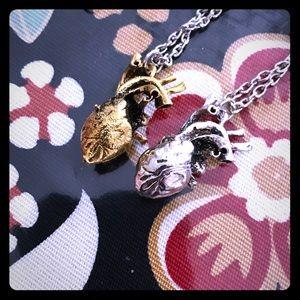 Jewelry - anatomical heart necklaces alchemy witchy goth